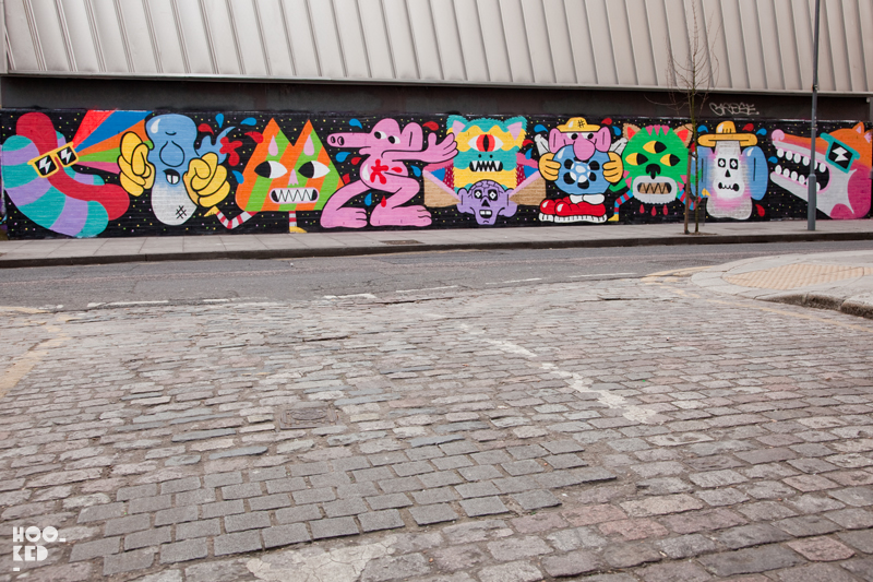 London street art on Redchurch street by artist Malarky and Lucas
