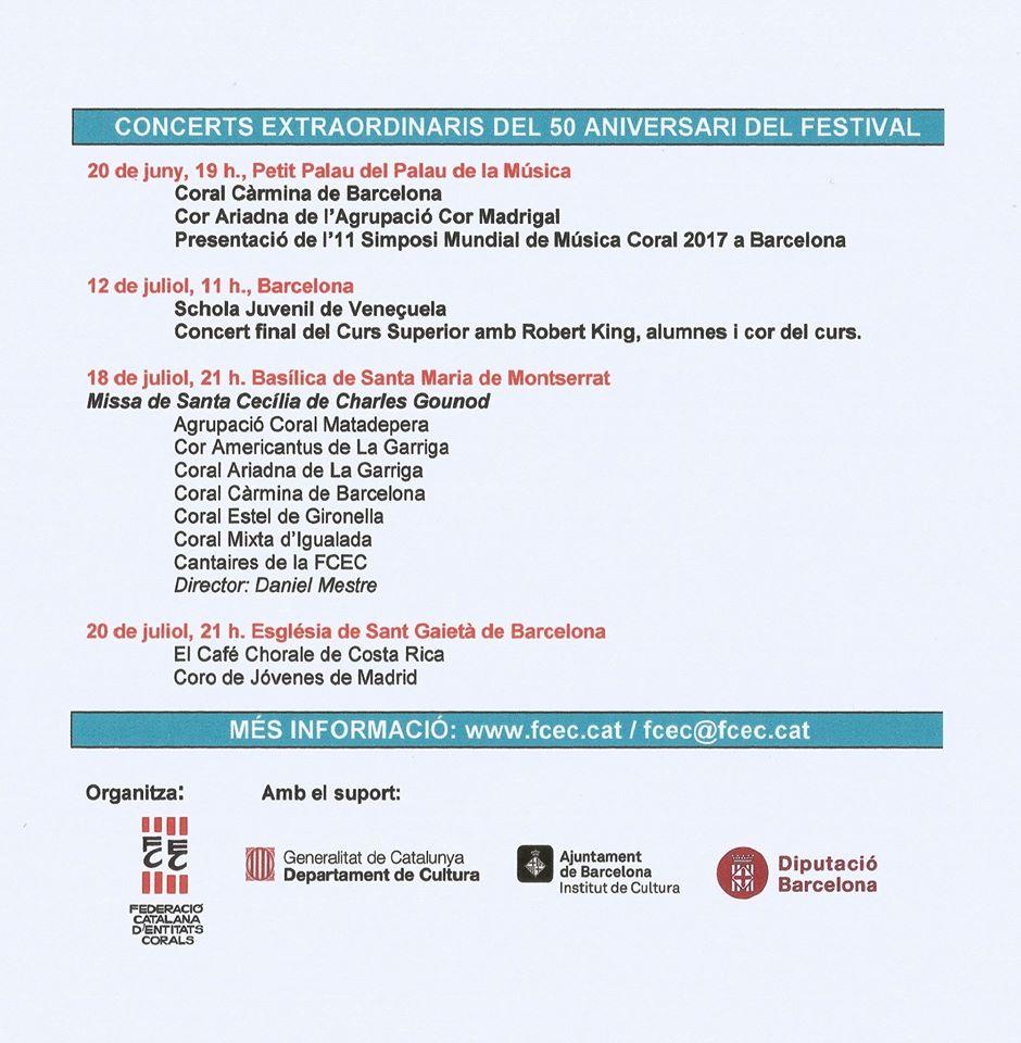 """La Schola Juvenil tendrá participación especial en el """"50 Festival Internacional de Cant Coral"""""""