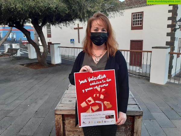 La Asociación de Empresarios de Breña Alta pone el acento dulce al San Valentín con el reparto de más de 1.000 galletas artesanas y un atractivo premio