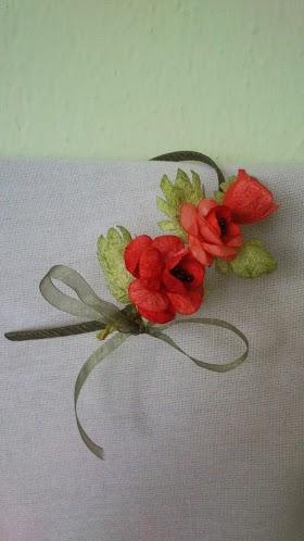 Koza Çiçekler ile Taç Süsleme