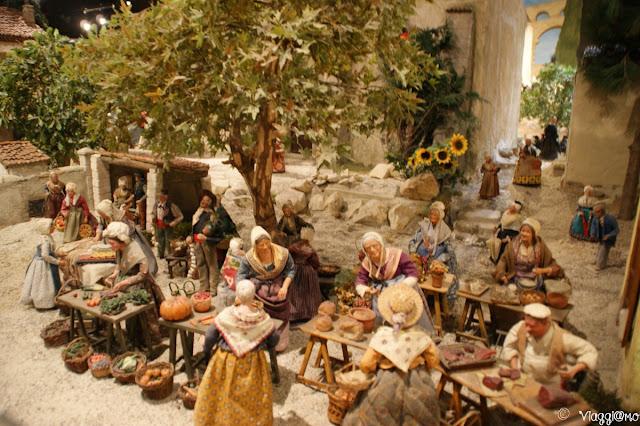 Il mercato tradizionale nel presepe provenzale