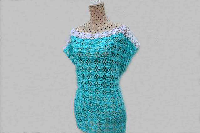 3 - Imagenes Crochet Blusa túnica playera a crochet facil sencilla paso a paso por Majovel Crochet
