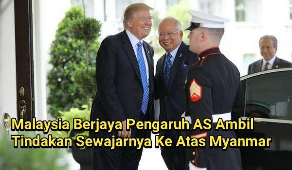 Malaysia Berjaya Pengaruh AS Ambil Tindakan Sewajarnya Ke Atas Myanmar - @NajibRazak
