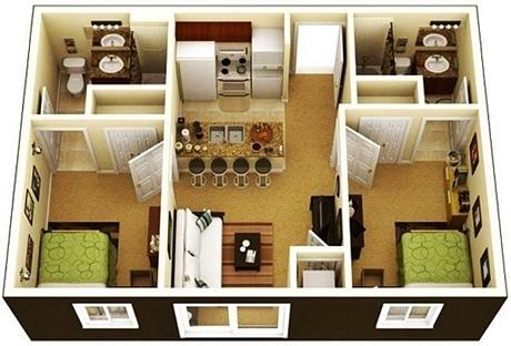 Denah Rumah Minimalis 2 Kamar Tidur Yang Modern | Mugniar | Mamak Blogger Makassar