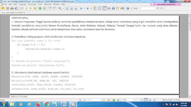 Download contoh soal pppk skb pranata komputer dan kunci jawaban