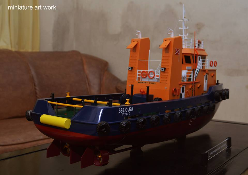 pengrajin miniatur kapal tugboat tb sse olga rumpun artwork planet kapal indonesia terpercaya