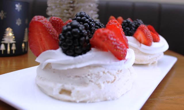 An easy two egg pavlova that you can whip up in no time.  No fuss and one bowl to prepare.