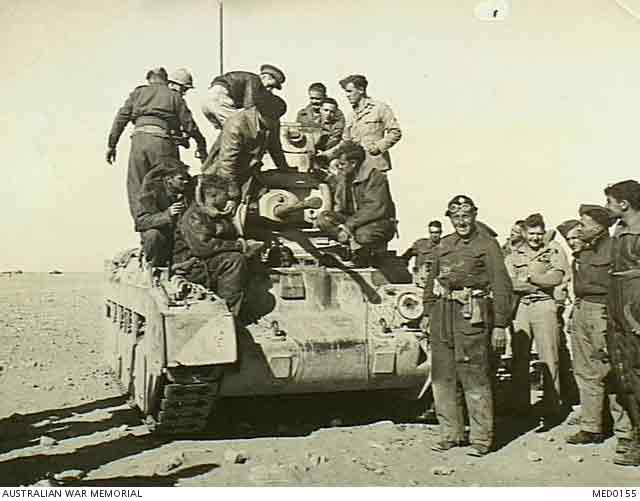 RAF officers with British tank, 4 December 1941 worldwartwo.filminspector.com