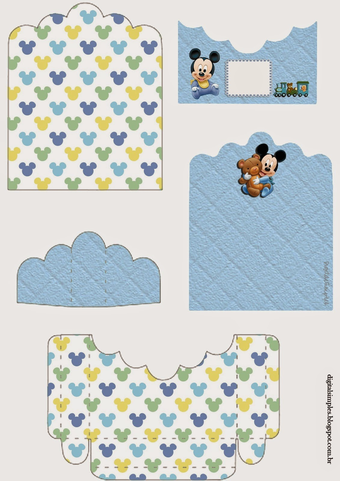 Mickey Baby: Free Printable Candy Package Support. | Oh My ... | 1131 x 1600 jpeg 205kB