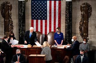 US Congress reconvenes to count Electoral College votes
