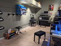 Guitar Center keyboard room
