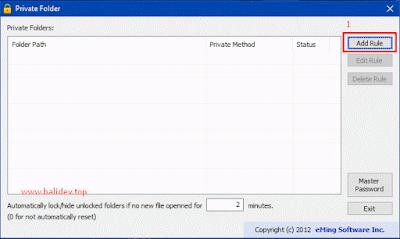 add rule private folder