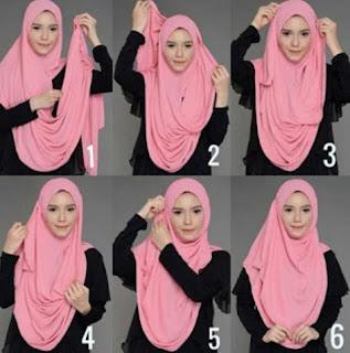 Tutorial jilbab pashmina minimalis untuk kerja