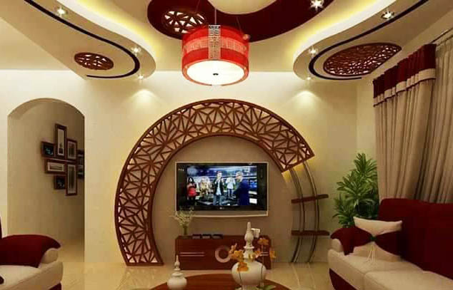 . Wall Ceiling Design For Tv Lounge