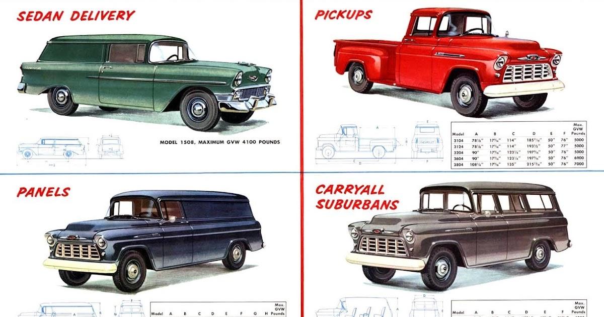 New 1956 Chevrolet Task Force Trucks Lineup ~ vintage everyday