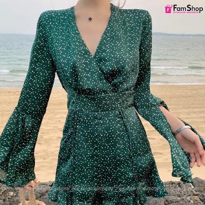Váy maxi đi biển V540