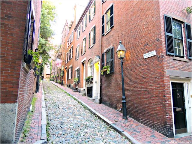 Acorn Street en Beacon Hill, Boston