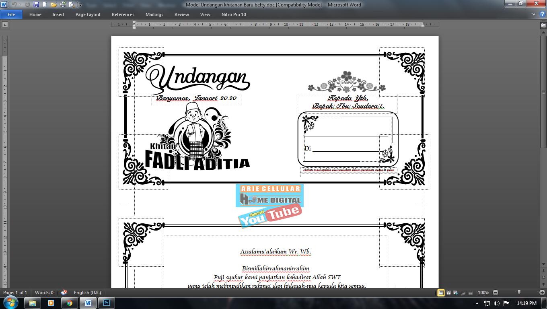 Download Undangan Tahlil Siap Edit A 4