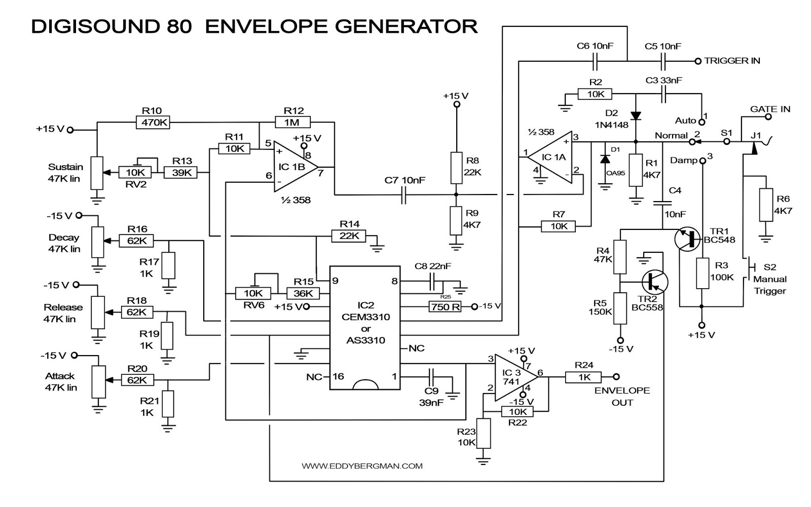Eddy Bergman.com: Synthesizer Build part-33: DIGISOUND-80