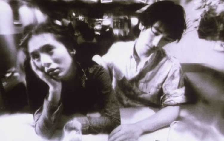 A black-and-white scene in Wong Kar-Wai's Fallen Angels