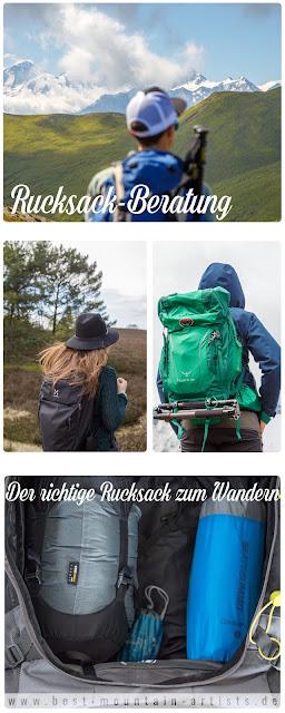 Rucksack Beratung - der richtige Rucksack zum Wandern - Wanderrucksack packen