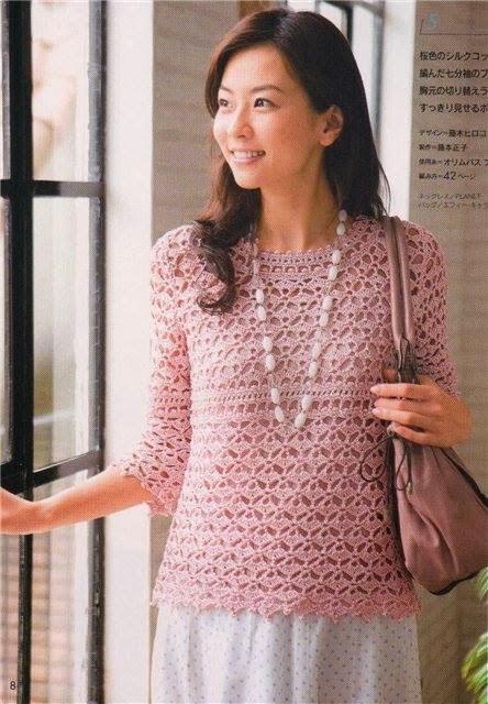 65655be14032 Κουβαράκι  Ανοιξιάτικη μπλούζα με βελονάκι