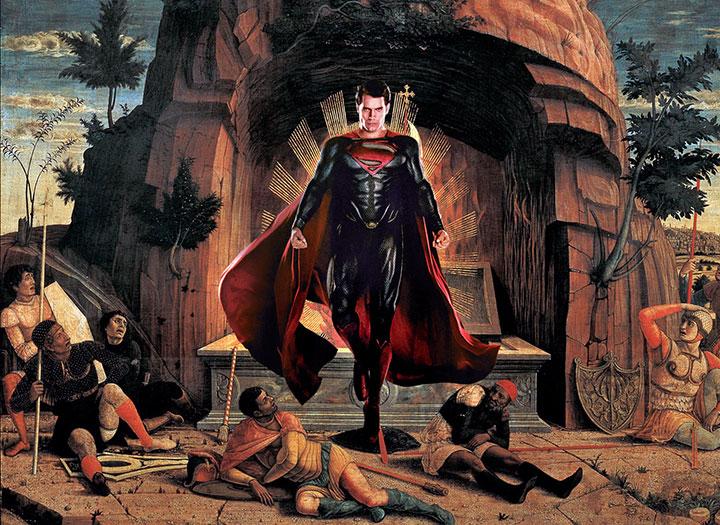 Superman resucitando de los muertos