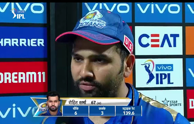 rohit Sharma man of the match
