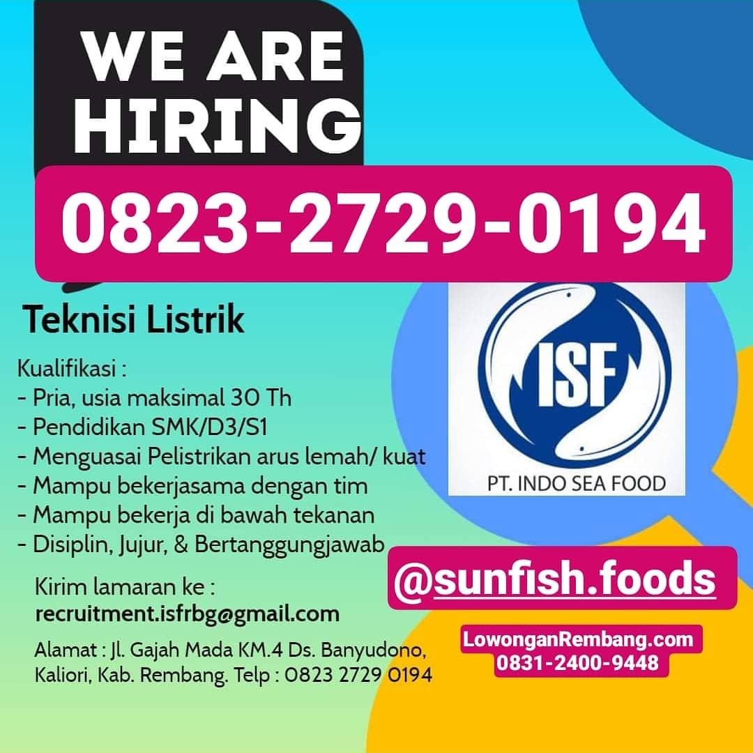 PT. Indo Sea Food Banyudono Kaliori Buka Lowongan Kerja