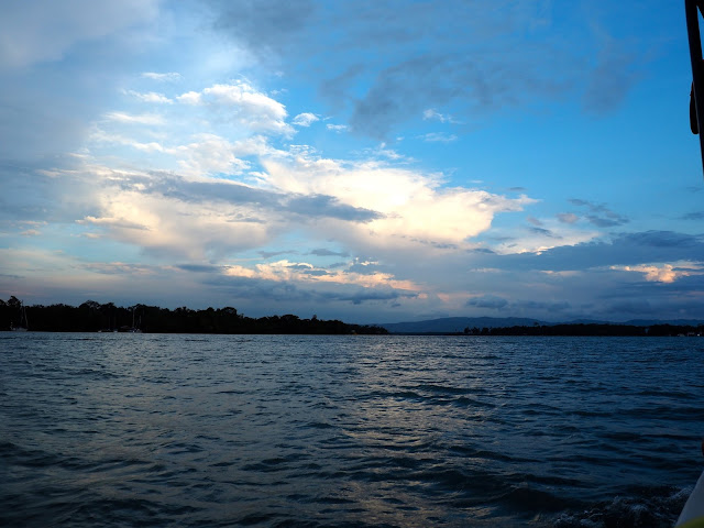 Evening view over Lake Izabal, Guatemala