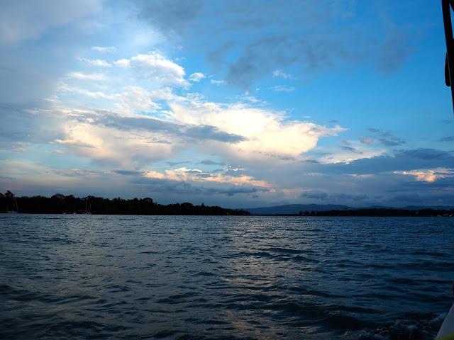 Evening view over Lake Izabal, Guatemala