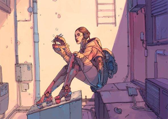 Josan Gonzalez f1x-2 deviantart ilustrações ficção científica cyberpunk comics violência futuro distópico