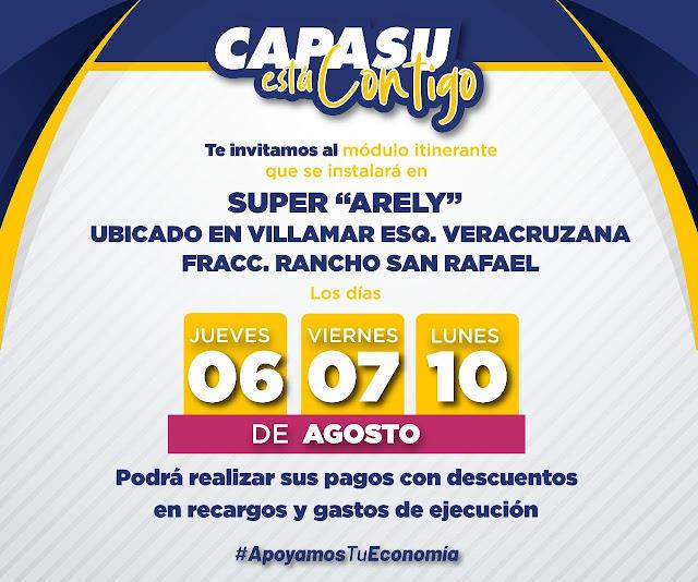 Instalará Capasu módulo itinerante, en San Rafael