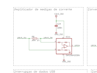 Circuito para medição de corrente.
