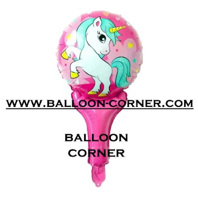 Balon Foil Raket Karakter Unicorn