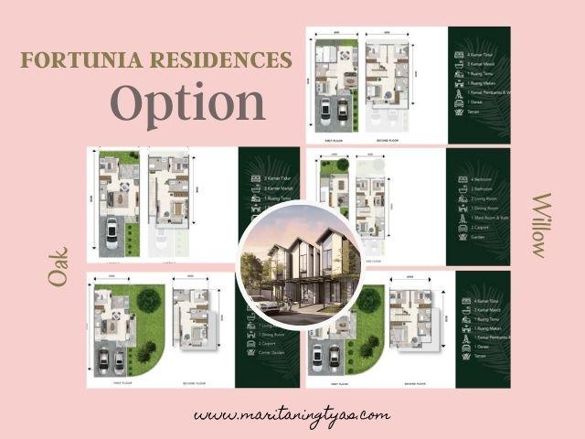 pilihan tipe dan ukuran fortunia residences 2