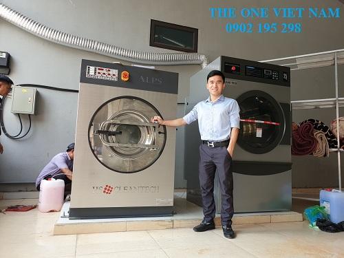 Lắp đặt máy giặt công nghiệp cho tiệm giặt tại Hà Nội