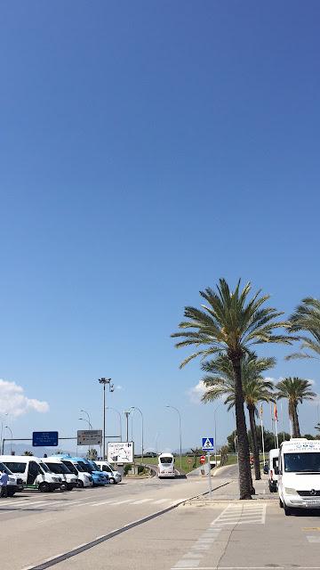 Mallorca travel diary Palma airport view