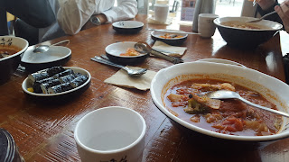 korean food for lunch at IROS 2016 humanoid application challenge