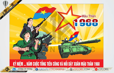 Pano tuyên truyền giải phóng miền nam Xuân mậu thân 1968