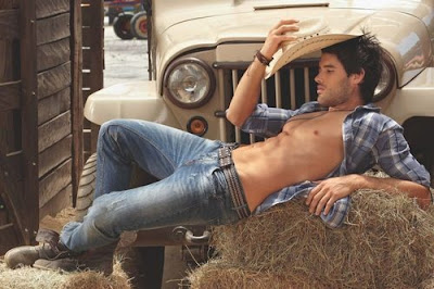 hot, alpha, cowboy, shirtless, man candy