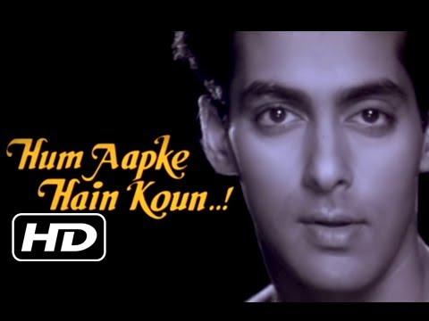 Hum Aapke Hain Koun - Title Song - Salman Khan & Madhuri Dixit - Classic Romantic Song - Lata Mangeshkar , S P Balasubramaniam Lyrics in hindi