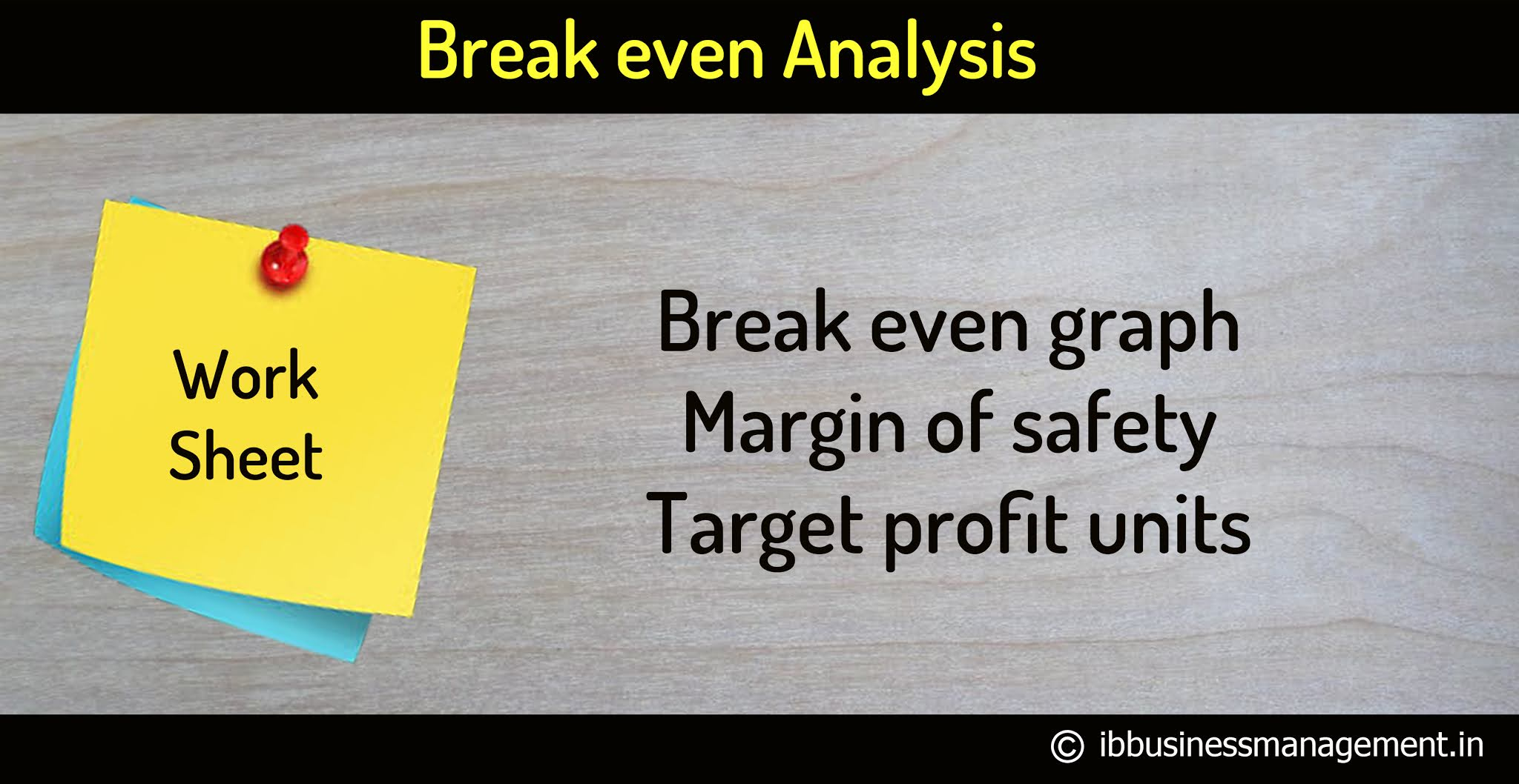 Break even graph worksheet