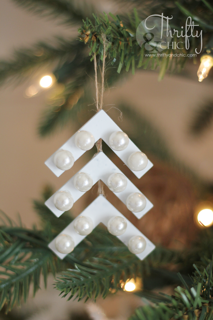 """Christmas Tree"" ornament made from hardware store brackets"