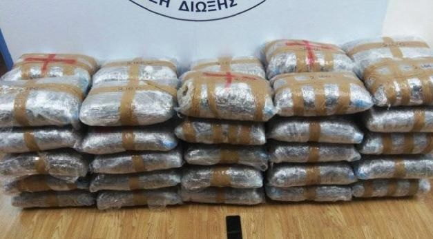 105 kg of marijuana captured by Athens Police, 25-year-old Albanian arrested