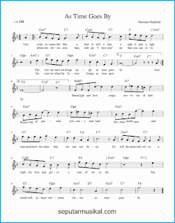 chord as time goes by lagu jazz standar