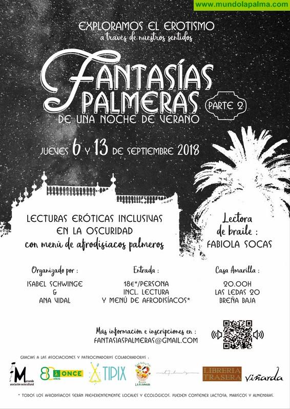 Fantasías palmeras de una noche de verano: II encuentro, lectura erótica inclusiva en la oscuridad en braille con Fabiola Socas Luis