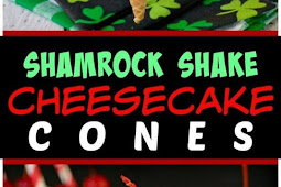 No Bake Shamrock Shake Cheesecake Cones