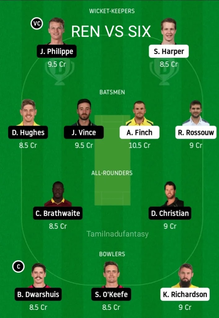 Ren vs six dream11 prediction