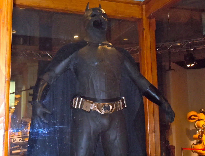 Batman Begins movie costume display